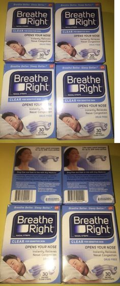 Other Sleeping Aids: 120 Breathe Right Small/Medium Clear Nasal Strips New In Factory Sealed BUY IT NOW ONLY: $34.89