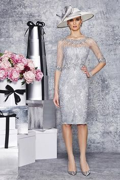 New into stock we have this Ronald Joyce 991077 from their new Autumn/Winter 2015 collection.  This is a stylish Mother of the Bride and Special Occasion dress in Silver and in Pale Blue.  This dress retails at £465.  To see more from Ronald Joyce take a look at our collection page.