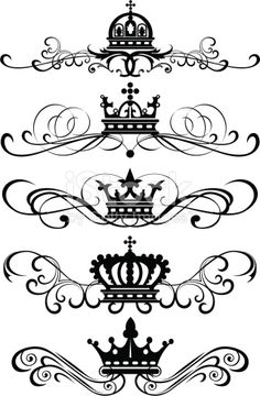 graphic design, set, 7 royalty-free graphic design set 7 stock vector art & more images of classical style Web Design, Design Art, Graphic Design, Design Patterns, Decoration Design, Tatoo Art, Body Art Tattoos, Heart Tattoos, Skull Tattoos