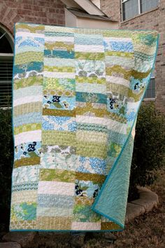 Optimism Modern Throw Quilt by QuiltsByEmily on Etsy