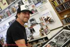 Happy Birthday Eddie Vedder!!!! 12/23 Eddie at the Hungry Ear Records store in Kailua Village, Hawaii 12/21/13