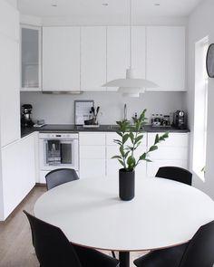 Likes, 20 Comments - Guðbjörg Ester Ikea Design, Ikea Kitchen Design, Ikea Molger, Kitchen Cabinets, Furniture, Interior, Table, Kitchens, Home Decor