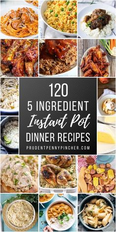 120 Best 5 Ingredient Instant Pot Recipes Looking for a quick and easy dinner for a busy weeknight? Try one of these 5 ingredient Instant Pot recipes which include main entrees, sides and desserts. Best Instant Pot Recipe, Instant Pot Dinner Recipes, Recipes Dinner, Instant Recipes, Instant Pot Meals, Slow Cooker Recipes, Cooking Recipes, Healthy Recipes, Cooking Pork