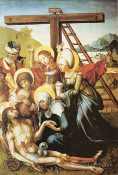 The Seven Sorrows of Mary, middle panel, scene, The Lamentation - Albrecht Durer