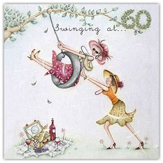 Swinging At 60 Berni Parker Designs Card