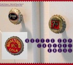 DIY Interesting And Useful Ideas For Your Home: DIY Vintage Soda Bottle Cap Cabinet Knobs