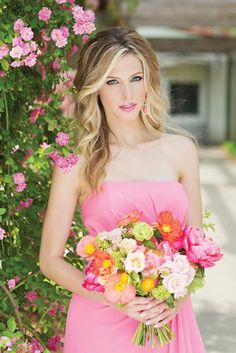 Lovely bridesmaid beauty. Hair and makeup by AW Wedding Hair and Makeup. Floral by Lush Couture Floral. Photo by Perez Photography. #wedding #bridesmaid #beauty #hair #makeup #floral