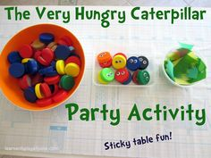 Learn with Play @ home: Very Hungry Caterpillar Party Activity