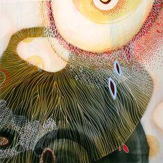 "Yellena James, ""Aurelia"", acrylic on wood, 12 x12inches. Via elemenop.tumblr.com"