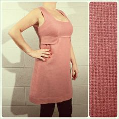"""* PINK PINAFORE DRESS *  size M ancient/pale pink wool dress fake pockets, collar and bust pink shining tape, fully lined, back long zip vintage repro, perfect conditions!  shoulders: 35,5 cm - 14"""" bust: 42 cm - 16,5"""" length: 86 cm - 34"""" € 18 plus p&p"""