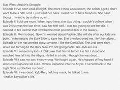 Anakin's Life and his Worries