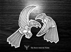 Raven From The North – Norse Mythology-Vikings-Tattoo Norse Tattoo, Celtic Tattoos, Viking Tattoos, Wiccan Tattoos, Inca Tattoo, Indian Tattoos, Viking Raven, Viking Art, Viking Designs