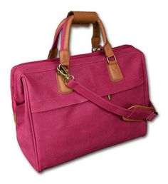 Pink Travel City Bag...Also in orange,black,turquoise,and lime green  $60.00  GimmeGotcha.com