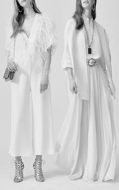 Feather and Embroidered Georgette Top by Elie Saab for Preorder on Moda Operandi