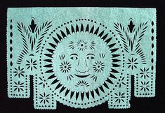 Sun Face by peacay, via Flickr   'Día de los Muertos' (Day of the Dead) papercut images, produced in the 1980s in San Salvador Huixcolotla in Puebla State, Mexico, are from the British Museum Prints Database [keywords: papercut, Huixcolotla].