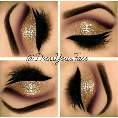 Gold Eyeshadow. Gorge <3 <3 <3  Hey girl hey do you want to learn how to be more fab, fierce and free?  Follow my blog to learn fun fab tips and strategies @ http://fabfiercefreedom.com/
