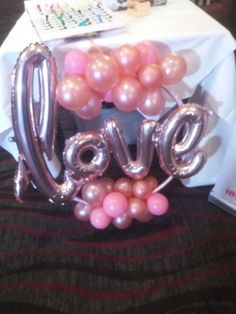 LOVEly balloon decoration from Creative Decorations Small Balloons, Helium Balloons, Balloon Display, Balloon Decorations, Balloon Designs, Love Balloon, Planning Your Day, Creative Decor, Friend Wedding