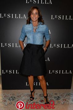 Cristina Parodi * Rainbow of celebrities to the presentation of the sublime Le Silla Collection Fall Winter Mode Outfits, Chic Outfits, Spring Outfits, Fashion Outfits, Womens Fashion, Dress Fashion, Look Camisa Jeans, Classic Outfits, Look Fashion