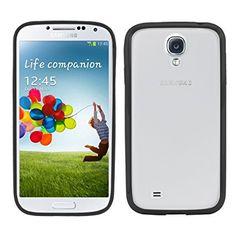 kwmobile Crystal Case Hülle für Samsung Galaxy S4 aus TPU Silikon mit Rahmen - transparente Schutzhülle Cover Bumper in Schwarz