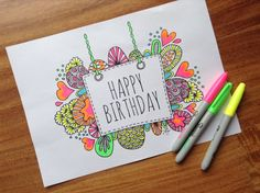 Download Colouring Page Happy Birthday Digital by goggo101