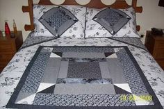 Resultado de imagen para modelos de colchas de patchwork Bed, Furniture, Bedroom, Home Decor, Comforters