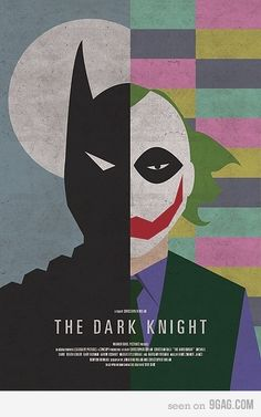 The Dark Knight minimalist poster