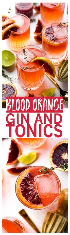 lood Orange Gin and Tonics are a delicious spin on a classic cocktail!