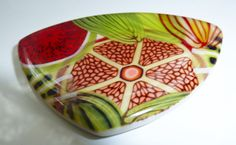 Sabine Spiesser of Papago Design. Polymer topped with resin. Beautiful! MonaRAEbeads.etsy.com