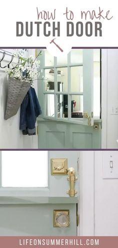 Diy Exterior Dutch Door, Dutch Door Interior, Exterior Doors, Garage Exterior, Craftsman Door, Craftsman Interior, Half Doors, Windows And Doors, Door With Window