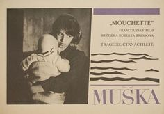 Posteritati: MOUCHETTE 1968 Czech 11x16 Robert Bresson, Film, Cover, Books, Image, Movie, Libros, Film Stock, Movies