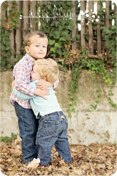 Love this brothers picture! brae loves hugs and kisses