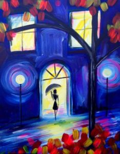 We'll be painting Stepping Out, join us for a fun and artistic Sunday night out! https://www.pinotspalette.com/queens/class/76863