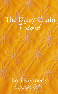 Daisy Chain-A Free Motion Quilt Tutorial Daisy Chain, Free Motion Quilt Tutorial__ tons of free motion quilting patterns/ideas on this site.Daisy Chain, Free Motion Quilt Tutorial__ tons of free motion quilting patterns/ideas on this site. Free Motion Embroidery, Free Motion Quilting, Hand Quilting, Longarm Quilting, Quilting 101, Quilting Rulers, Quilting Stencils, Quilting Projects, Quilting Ideas