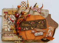 "Authentique Paper: ""Thankful"" Fall Mini Book with GoGo Girl Scrapbooking!"