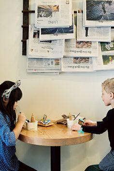 Salt & Straw, Portland (by Tsang) i like the newspaper holder in the background Little Ones, Little Girls, Kids Bedroom, Baby Kids, Kids Fashion, Road Trip, Childhood, Magazine Rack, Kinfolk Magazine