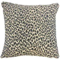Pesach Animal Print Pillow Onyx
