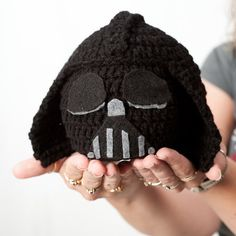 Crochet Darth Vader Baby Hat.... Making this for my brother when/if he has a baby!! LOL