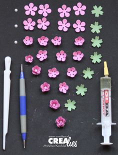How to make tiny paper flowers flower flowers and miniatures crealies roses mightylinksfo