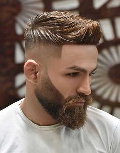 In this post we share about the how to trim a beard, how to trim short, mid-length and long beard. How to trim a short beard neckline Fade Haircut Styles, High Fade Haircut, Beard Styles, Short Beard, Short Hair Cuts, Short Hair Styles, Cool Haircuts, Haircuts For Men, Modern Haircuts