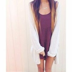 Brandy Melville love the dress and sweater #fallfashion