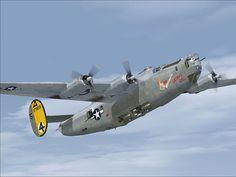 "Consolidated B-24 Liberator ""Satan's Gal""."