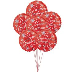 Price:  US$29.99  The joyous holidays start at perfect time of Christmas, and the celebration begins with this Ruby Red balloons, and they come with Season's greeting to add a littlebit more fun.