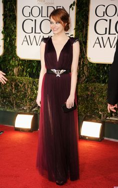 Emma Stone - 2012 Golden Globe Awards / Lanvin