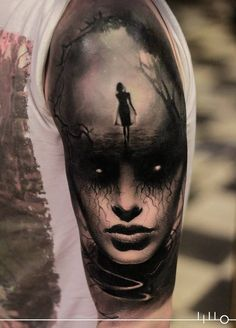 Mysterious half sleeve by Rainer Lillo.
