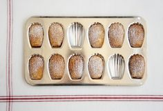 Lavender honey madeleines