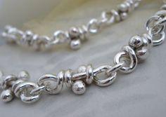 Knots Sterling Silver Necklace. Oxidized. Linked by aroluna $170, 20ga
