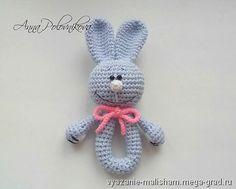 Вязаные погремушки Мишка, Зайка, Коровка - вязание и вышивка, плетение, развивающая игрушка. МегаГрад - главный ресурс мастеров и художников