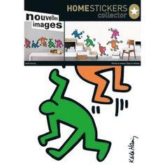 Met deze stickers van de vrolijk dansende figuren van Keith Haring kun je je eigen compositie maken.