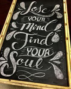 el primero en tiza. #panama #pty #lettering #handmade #handlettering #chalkboard