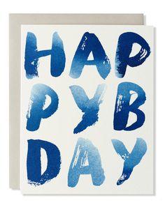 Mignon | happy b-day indigo card
